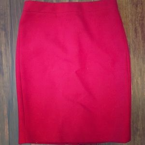 J.Crew red pencil skirt NEW, tags removed